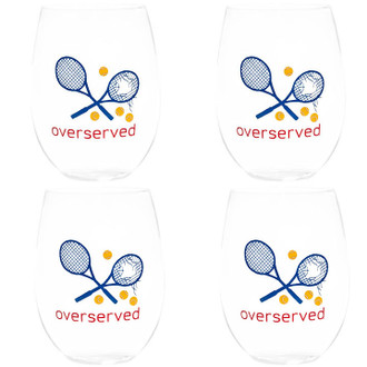 Overserved Stemless Wine Glasses