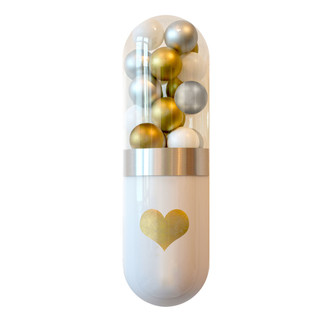Large Love Emoji Pill Sculpture
