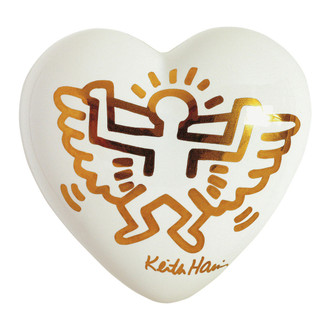 Keith Haring Angel Heart Paperweight