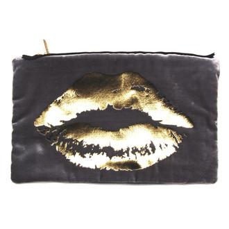 Velvet Lips Pouch Platinum Gold
