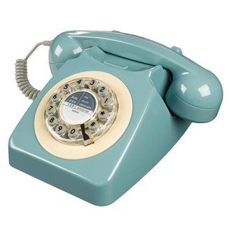 Retro 60's Phone, French Blue