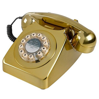 Retro 60's Phone, Metallic Gold