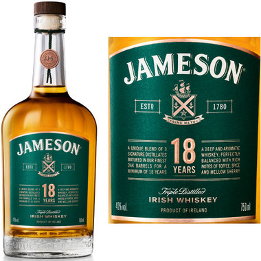 Jameson Limited Reserve 18 Year Old Irish Whiskey