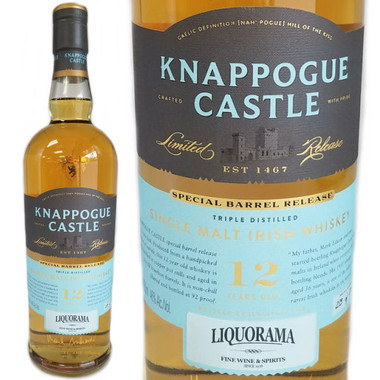 Knappogue Castle Bourbon Cask Matured 12 Year Old Single Malt Irish Whiskey 750ml