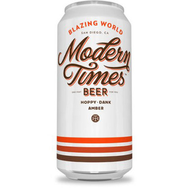 Modern Times Blazing World Amber 16oz 4 Pack