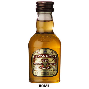 50ml mini chivas regal 12 year old blended scotch. Black Bedroom Furniture Sets. Home Design Ideas