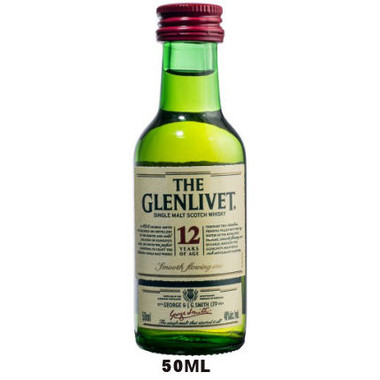 50ml Mini The Glenlivet 12 Year Old Speyside Single Malt Scotch