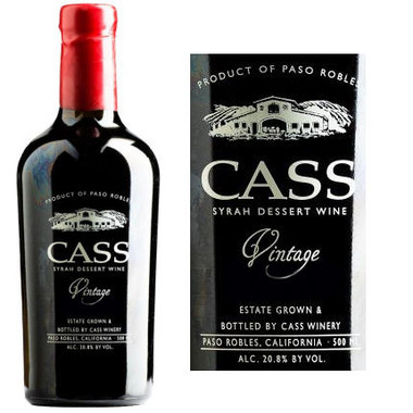 Cass Paso Robles Syrah Dessert Wine