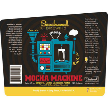 Beachwood Brewing Mocha Machine Imperial Coffee Chocolate Porter 22oz