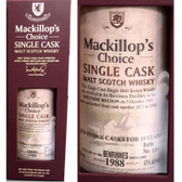 Mackillop's Choice Benrinnes 1988 Single Cask Malt Scotch 750ml