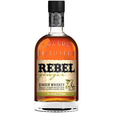 Rebel Yell Straight Bourbon Ginger Flavored Whiskey 750ml