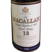 Macallan 1983 18 Year Old Single Malt 750ml