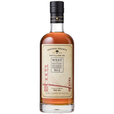 Sonoma County Distilling West Of Kentucky No.1 Bourbon Whiskey 750ml