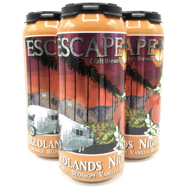Escape Brewery Redlands Night Orange Blossom Vanilla Blonde Ale 16oz 4 Pack Cans