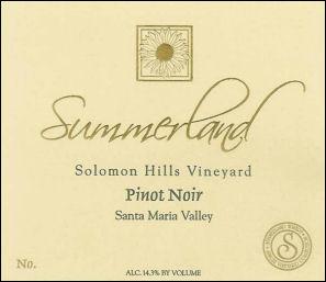 Summerland Solomon Hills Santa Maria Pinot Noir