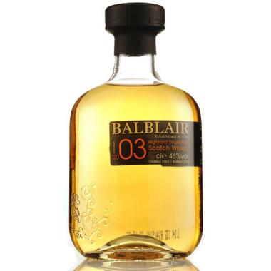 Balblair 2003 Highland Single Malt Scotch 750ml