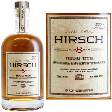 Hirsch Small Batch 8 Year Old High Rye Straight Bourbon Whiskey 750ml