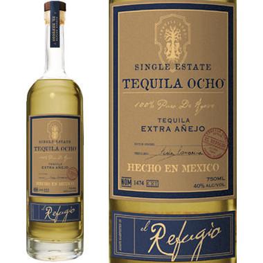 Tequila Ocho Extra Anejo el Refugio 750ml