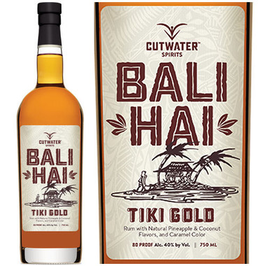 Cutwater Spirits Bali Hai Tiki Gold California Rum 750ml