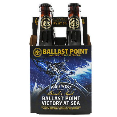 Ballast Point High West Bourbon Barrel-Aged Victory at Sea Imperial Porter 12oz 4 Pack