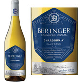12 Bottle Case Beringer Founders' Estate California Chardonnay 2016 w/ Free Shipping