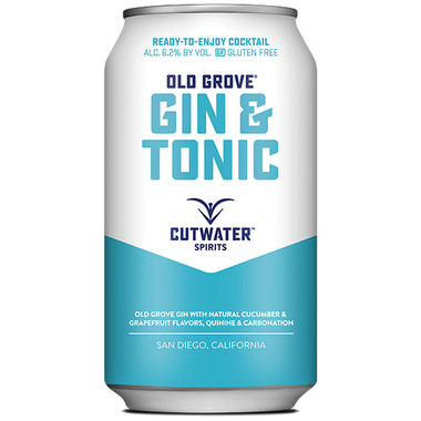 Cutwater Spirits Old Grove Gin & Tonic Ready-To-Drink 4-Pack 12oz Cans