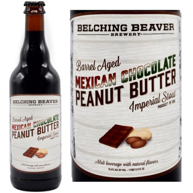 Belching Beaver Barrel-Aged Mexican Chocolate Peanut Butter Imperial Stout 22oz