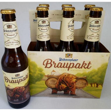 Weihenstephaner Sierra Nevada Braupakt Hefeweizen 12oz 6 Pack Bottles (Germany)
