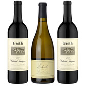 Groth Oakville Cabernet/Etude Carneros Chardonnay 3-Bottle Combo