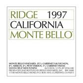 Ridge Monte Bello Santa Cruz Mountains Cabernet