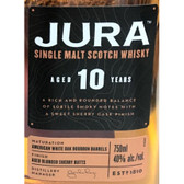 Jura 10 Year Old Single Malt Scotch 750ml
