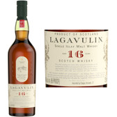 Lagavulin 16 Year Old Islay Single Malt Scotch 750ml Rated 90-95WE