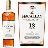 Macallan 18 Year Old Sherry Cask Highland Single Malt Scotch 750ml
