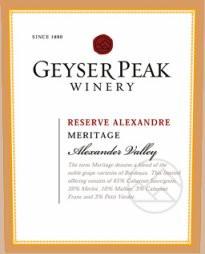 Geyser Peak Reserve Alexandre Meritage