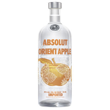 Absolut Orient Apple Swedish Grain Vodka 750ml