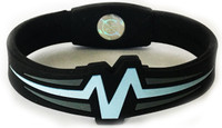 "Mojo-Raptor Band 7""  Black with Light Blue and Grey"