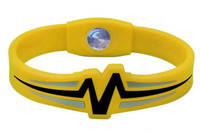 "Mojo-Raptor Wristband 8"" Yellow with Black and Grey"