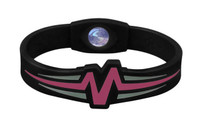 "Mojo-Raptor Wristband 7"" Black with Pink & Grey"