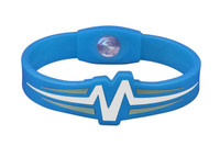 "Mojo-Raptor Wristband 7"" Blue with White and Grey"