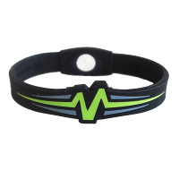 "Mojo-Raptor Band 8""  Black with Lime & Grey"