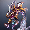 Hand Blown Glass Dragon Classic