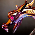 Hand Blown Glass Dragon Crystal Serpent
