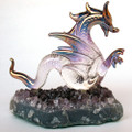 Hand Blown Glass Dragon Sepent on Amethyst