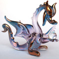 Hand Blown Glass Purple Dragon
