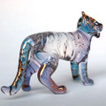 Hand Blown Glass Tiger
