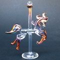 Hand Blown Glass Carousel Horse