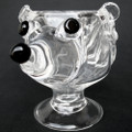 Hedgehog Coffee Mug Hand Blown Crystal Wine Glass