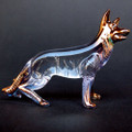 Hand Blown Glass German Sheppard