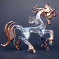 Hand Blown Glass Horse Stallion