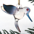 Hummingbird Hand Blown Glass Christmas Ornament
